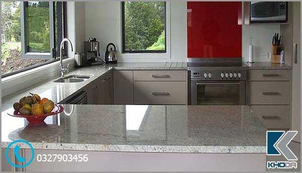 Mặt đá bàn bếp marble trắng 1