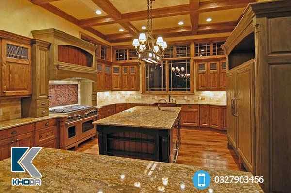 Mặt đá bếp granite vàng hoàng gia