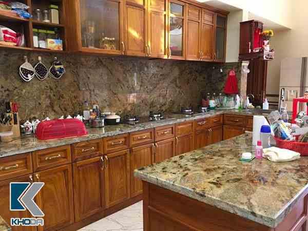 Mặt bàn bếp đá granite vang lapidus