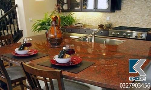Đá ốp bàn bếp đỏ sa mạc