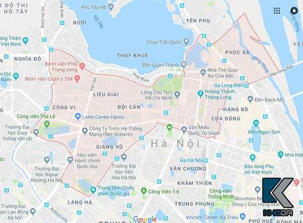 Bản đồ quận Ba Đình