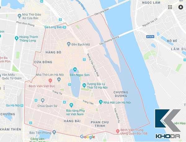 Bản đồ Quận Hoàn Kiếm