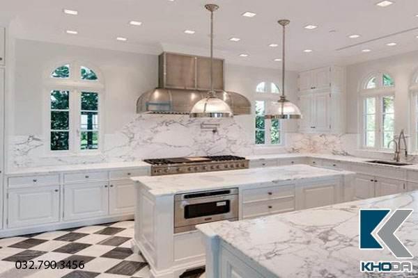Đá marble làm mặt bàn bếp