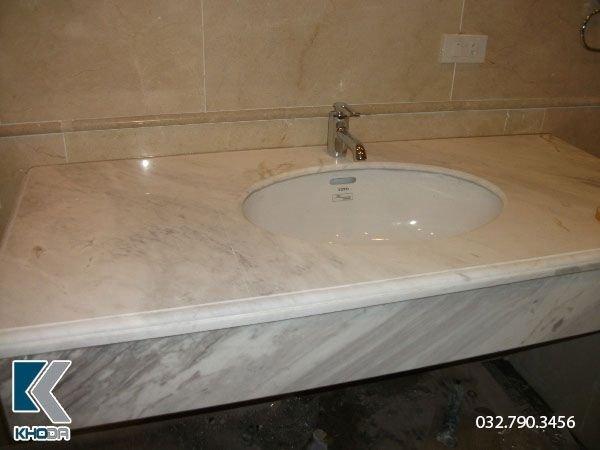 đá lavabo trắng hy lạp