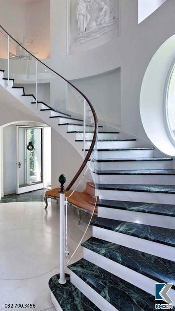 Đá marble ốp cầu thang