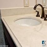 Mẫu bàn đá lavabo Crema Marfil